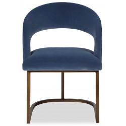 Liang & Eimil Alfie Dining Chair in Cobalt Blue Velvet
