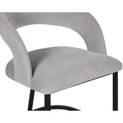 Liang & Eimil Alfie Dining Chair in Dorian Grey Velvet