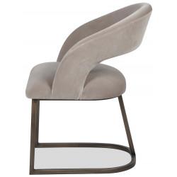 Liang & Eimil Alfie Dining Chair in Mink Velvet