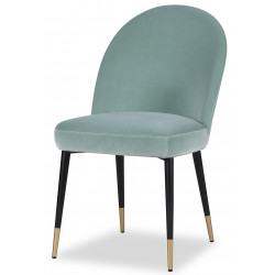 Liang & Eimil Alfa Dining Chair in Gainsborough Agate Green Velvet