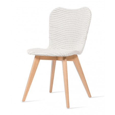 Vincent Sheppard Lily Dining Chair in Pure White |Oak Legs