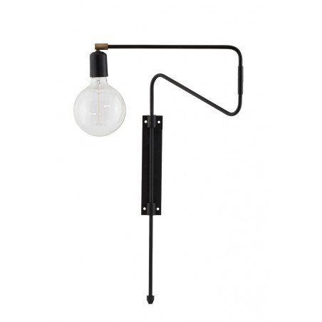 House Doctor Swing Wall Lamp in Black | 35 cm