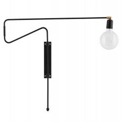 House Doctor Swing Wall Lamp in Black | 70 cm