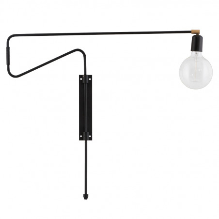 House Doctor Swing Wall Lamp in Black | 70 cm