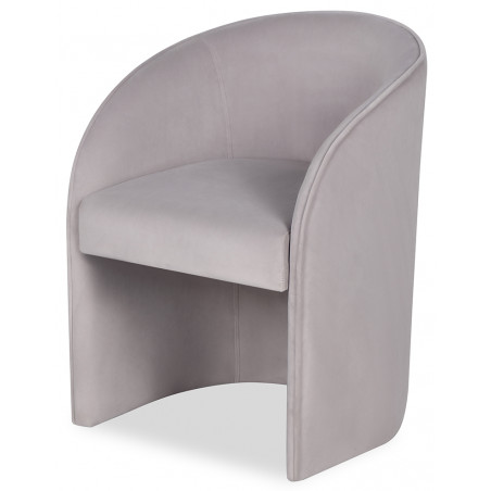 Liang & Eimil Capri Dining Chair in Kaster Light Grey Velvet