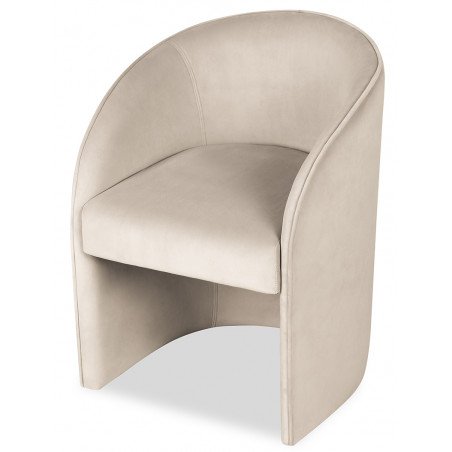 Liang & Eimil Capri Dining Chair in Kaster Pebble Velvet