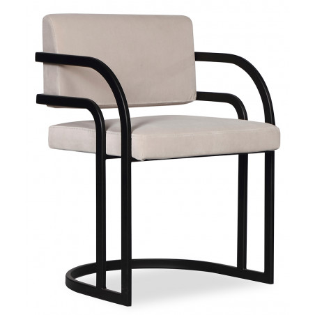 Liang & Eimil Dylan Dining Chair in Gainsborough Ash Grey Velvet