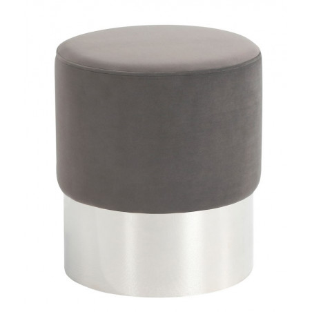 Liang & Eimil Calvin Stool | Steel Velvet | Polished Steel