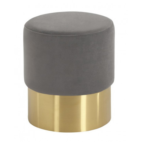 Liang And Eimil Calvin Stool |Steel Velvet | Brushed Brass