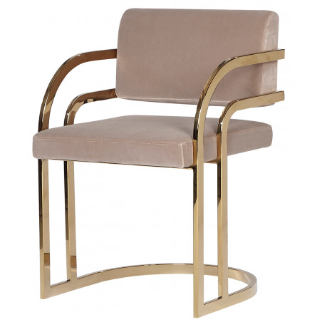 Liang & Eimil Dylan Dining Chair in Mink Velvet