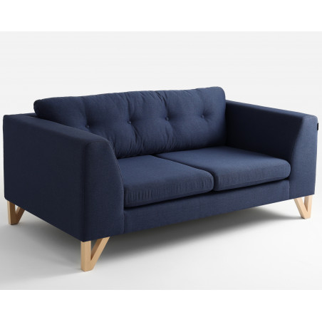 Custom Form 2 Seater Sofa WILLY in Inky