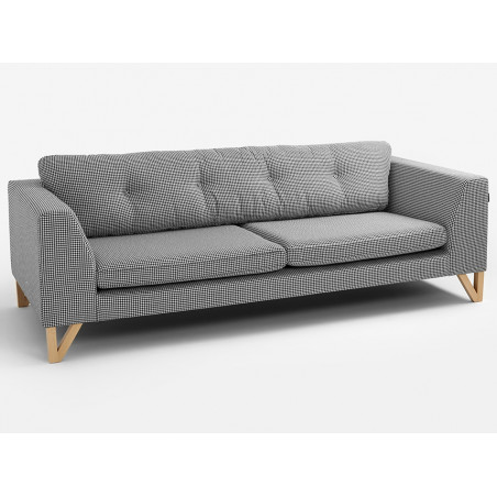 Custom Form 3 Seater Sofa Willy in Dark Houndstooth