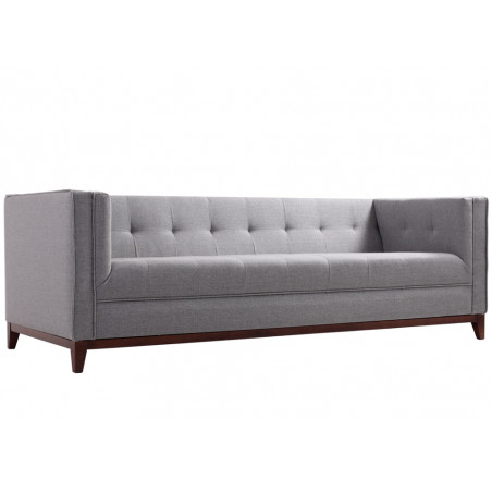 Custom Form BY TOM 3 Seater Sofa in Silver