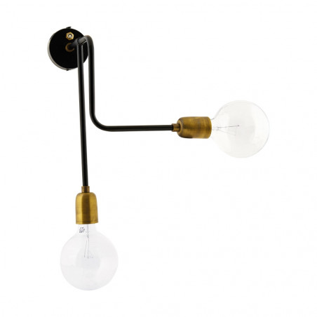 House Doctor Molecular Wall Lamp Black Brass