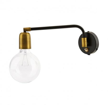 House Doctor Molecular Wall Lamp Black /Brass