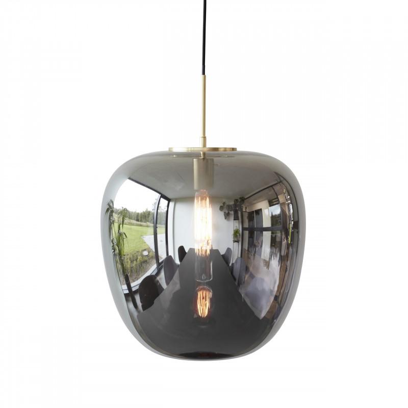 Hubsch Pendant Lamp Mirror Glass and Brass