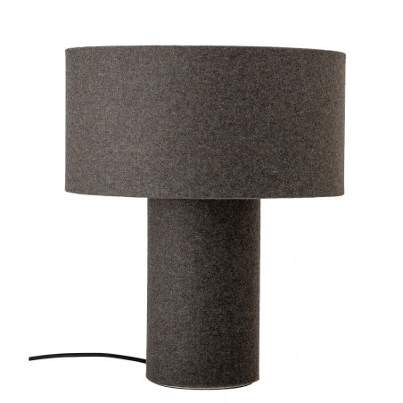 Bloomingville Table Lamp in Grey Wool