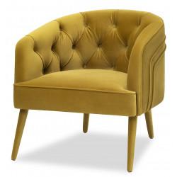 Liang & Eimil Langham Lounge Chair in Kaster Ochre Velvet