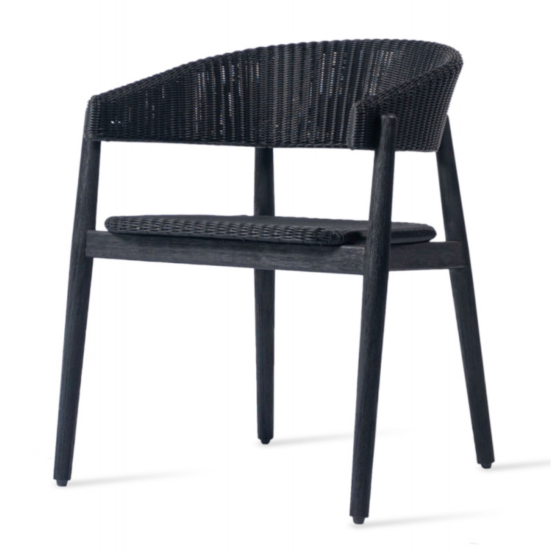 Vincent Sheppard Mona Outdoor Dining Chair Brushed Black Teak