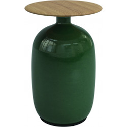 Gloster Side Outdoor Table Ceramic and Teak