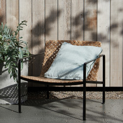House Doctor Habra Chair with Armrest in Natural Rattan