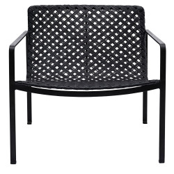 House doctor Habra Chair With Armrest in Black Rattan
