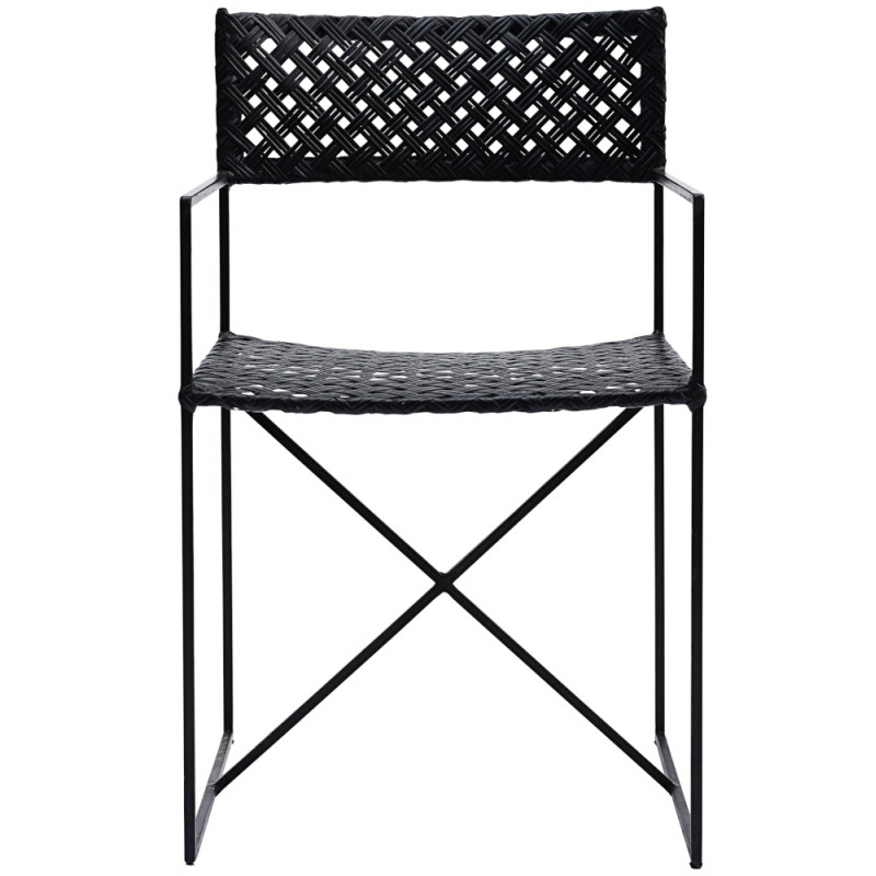 House Doctor Oscar Dining Chair in Black Rattan