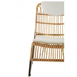 Bali Rattan Lounge Chair With Foot Stool
