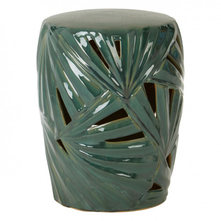 Palm Green Ceramic Table Drum