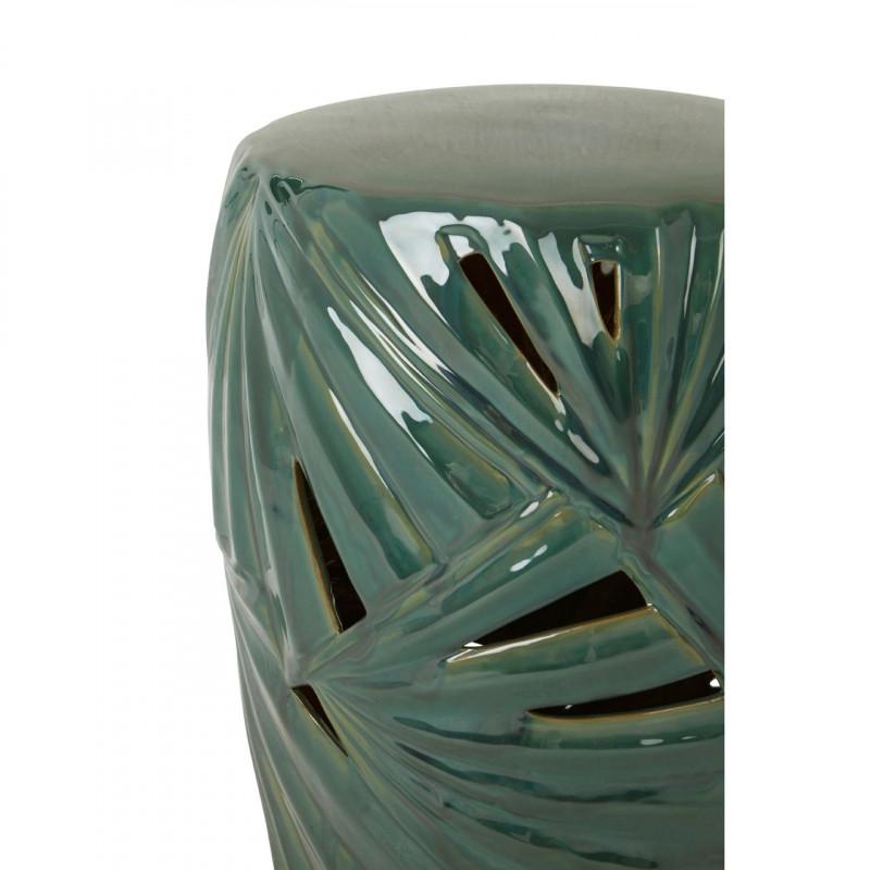 Palm Green Ceramic Table Drum