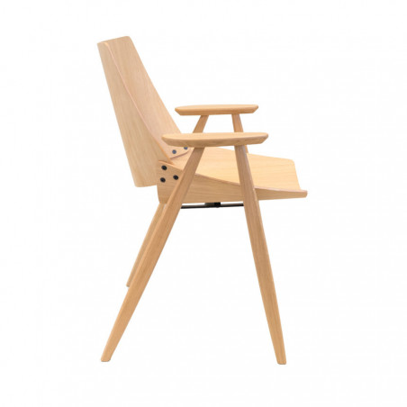 Rex Kralj Shell Wood Chair with Arms