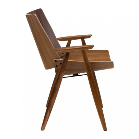 Rex Kralj Shell Wood Lounge Chair With Arms