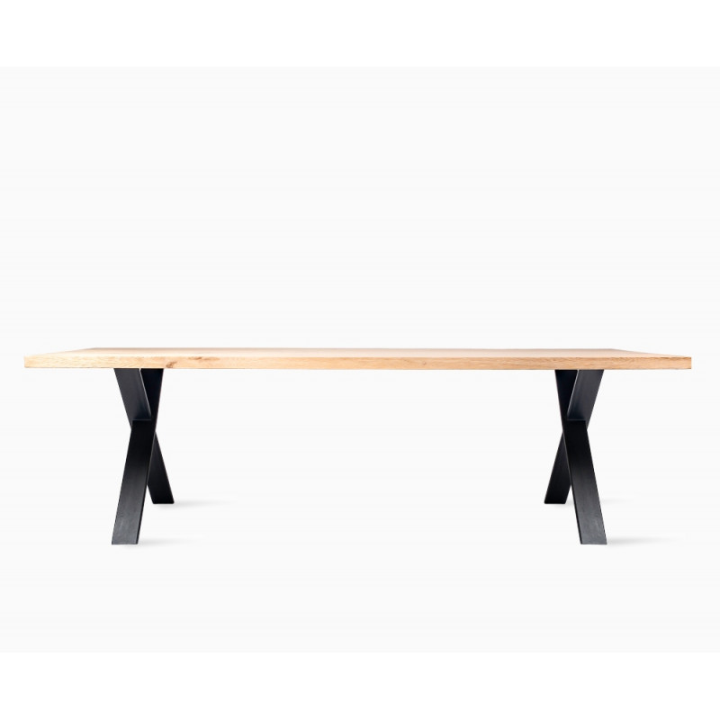 Vincent Sheppard Achille Dining Table with Black Cross Base