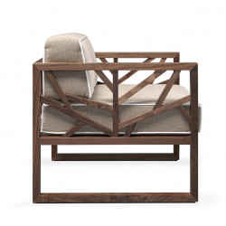 Wewood Tree Walnut Lounge Chair
