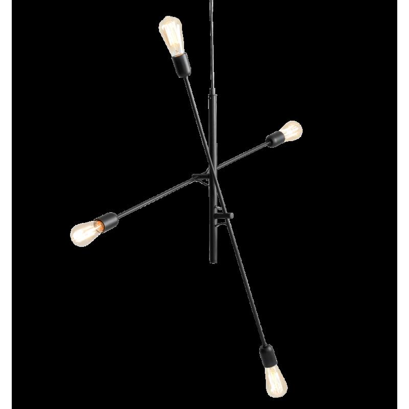 copy of Custom Form TWIGO 4 Hanging Lamp in Black