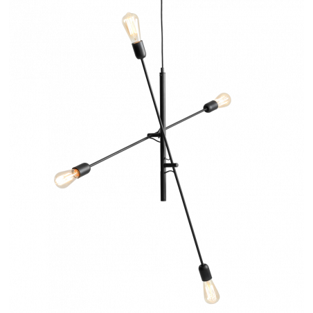 copy of Custom Form TWIGO 4 Hanging Lamp in Black