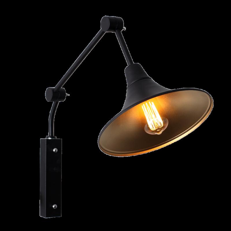 Custom Form Miller Wall Lamp Black