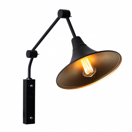 Custom Form Miller Wall Lamp Black