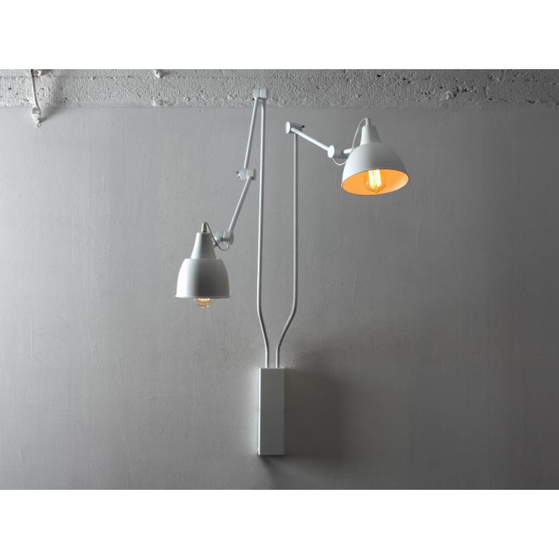Custom Form Coben Wall 2 Wall Lamp white