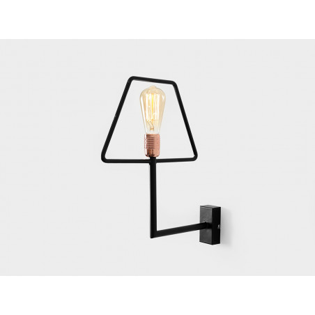 Custom Form Firkant Wall Lamps Black