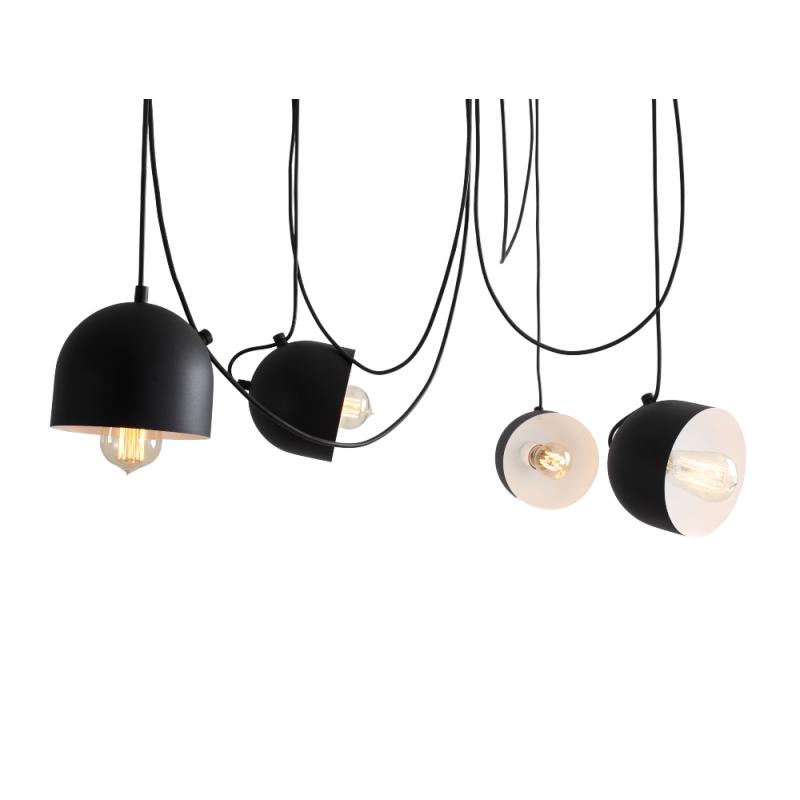 Custom Form POPO 4 Pendant Lamp Black