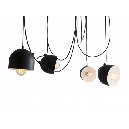 Custom Form POPO 4 Pendant Lamp Black
