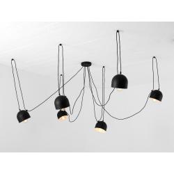 Custom Form Popo 6 Pendant Lamp Black