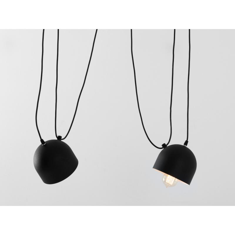 Custom Form Popo 2 Pendant Lamp Black