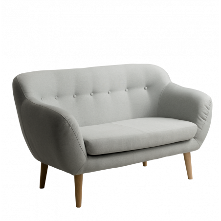 Custom Form 2 Seater Sofa Margaret in Platinum Fabric