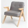 Custom Form Vink Armchair Natural |Steel