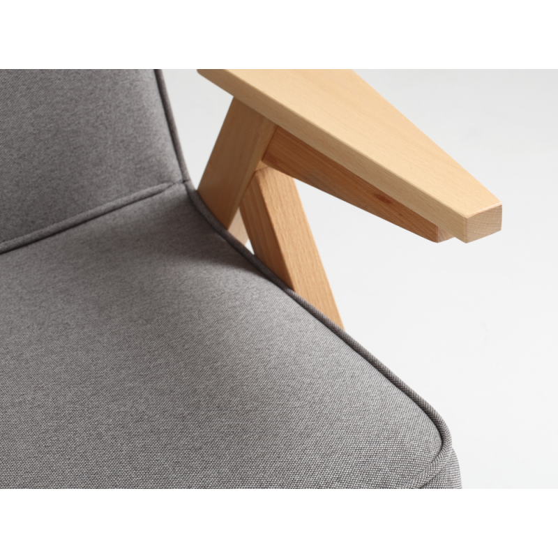 Custom Form Vink Armchair Natural |Steel