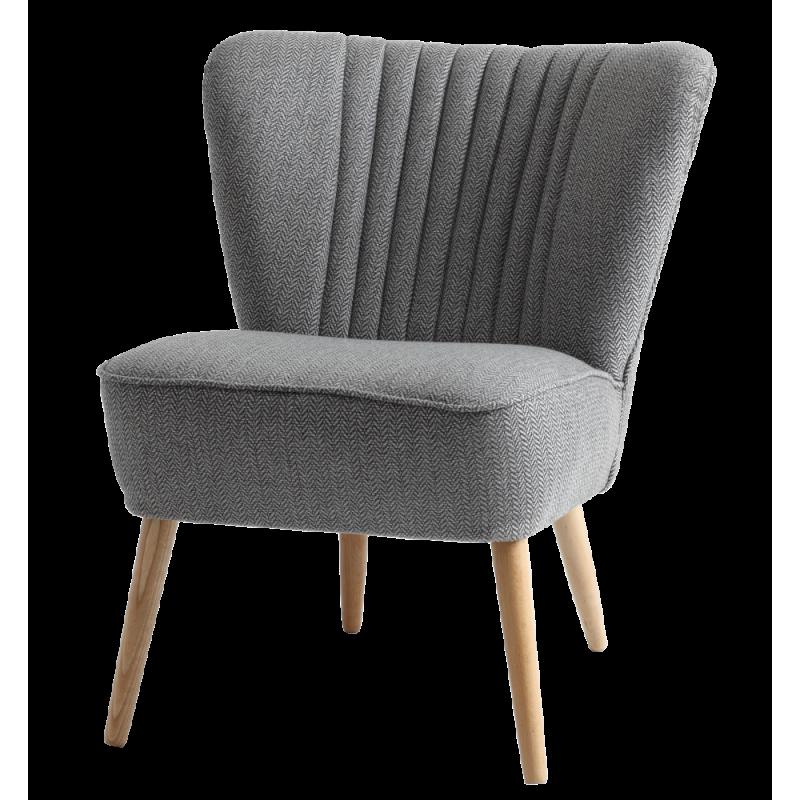 Custom Form Harry Silver Armchair Natural Legs