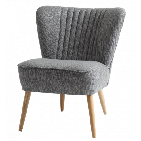 Custom Form Harry Silver Armchair Natural Legs