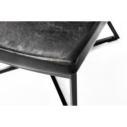 Custom Form Zero Armchair Eco Leather Black Metal